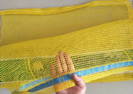 Vegetables Leno Mesh Bag With Label